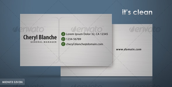Clean Gray Business Card - Corporate Business Cards