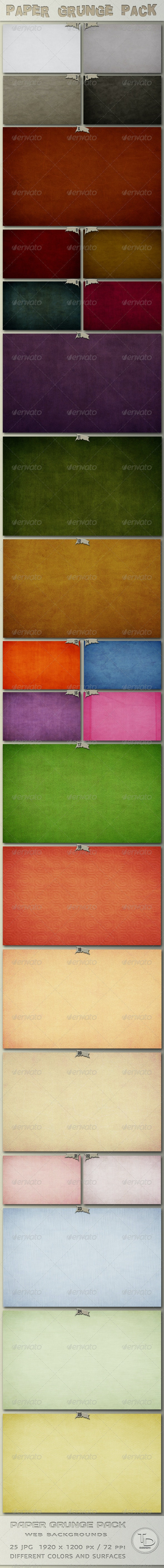 Paper Grunge Pack - Miscellaneous Backgrounds