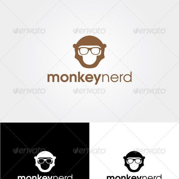 Monkey Nerd - Logo Template