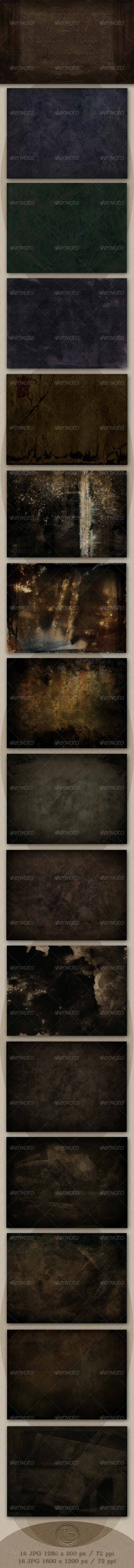 16 Dark Decorative & Grunge Web Backgrounds - Miscellaneous Backgrounds