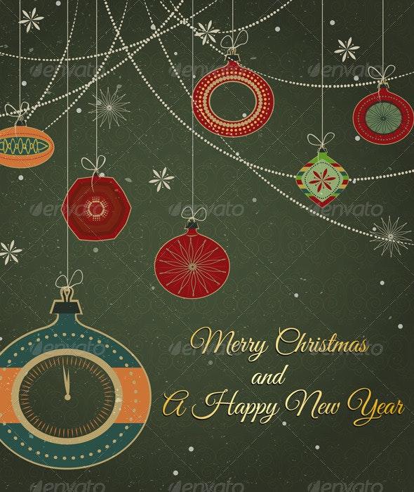 Stylish Retro Christmas Ornaments - Seasons/Holidays Conceptual