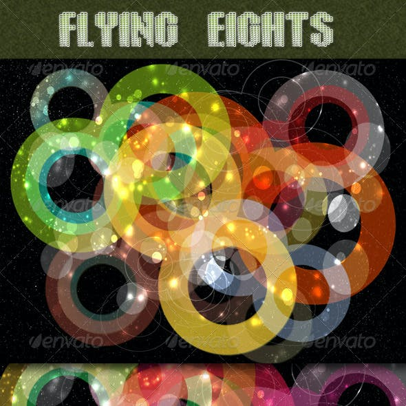 Flying Eights Colorful Backgrounds