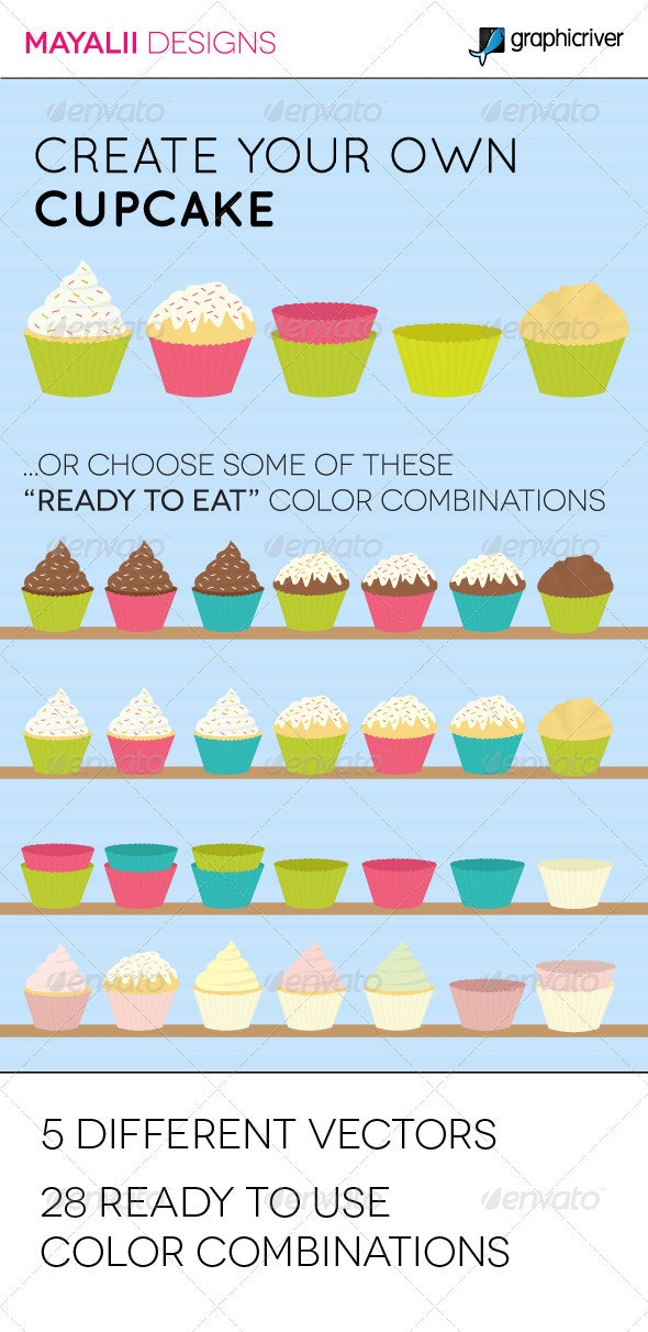 Cupcake Collection - Food Objects