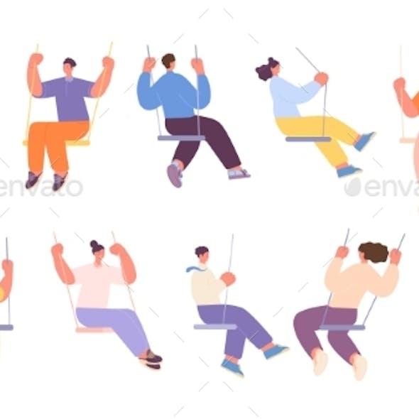 People on Swing