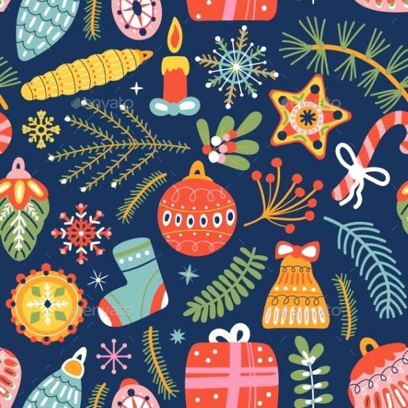 Christmas Decorative Seamless Pattern