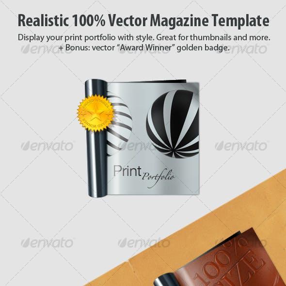 Realistic 100% Vector Magazine