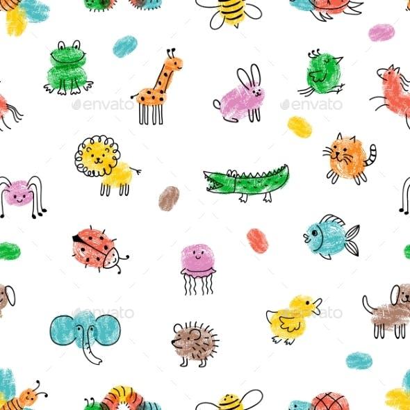 Children Paint Pattern