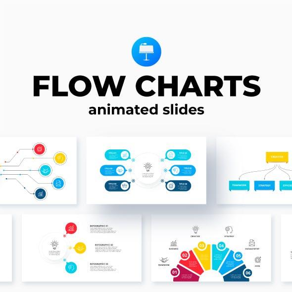 Flowcharts Keynote Infographics Presentation