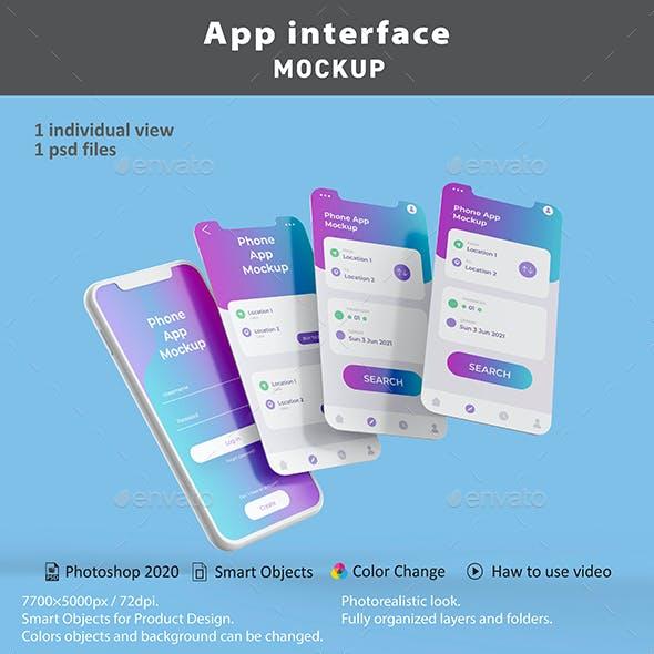 App Interface Mockup