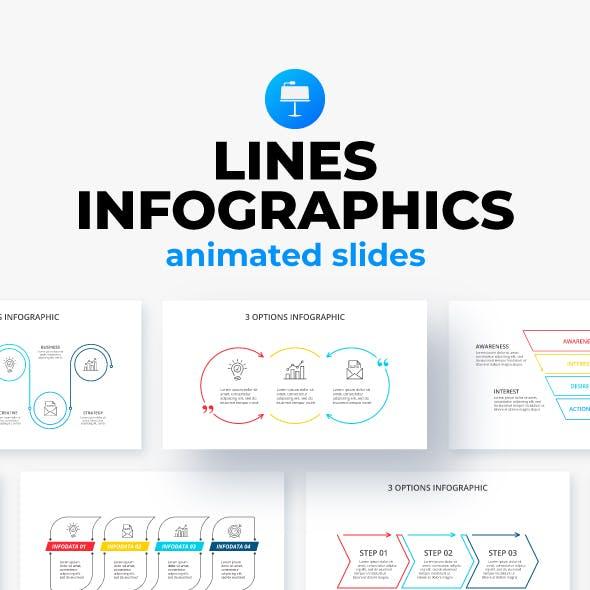Line Keynote Infographics Presentation