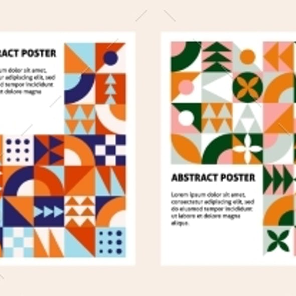 Contemporary Geometric Banners