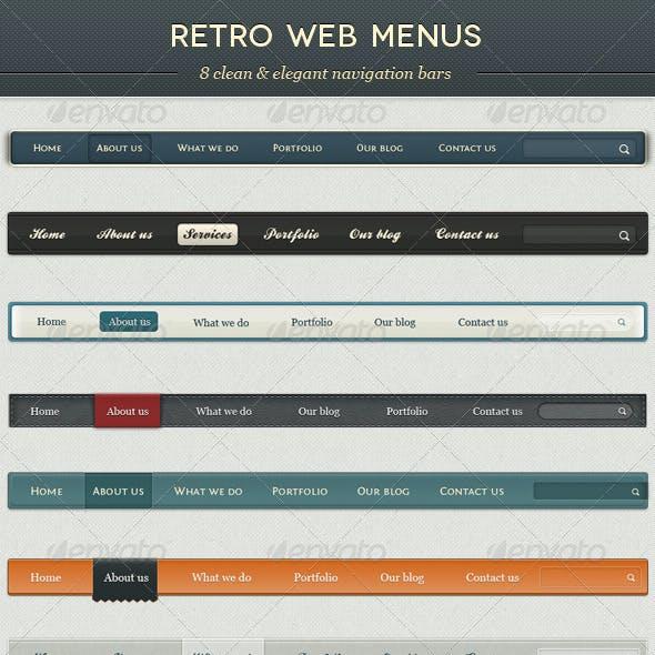 Retro Web Menus