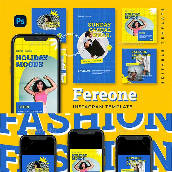 Freone Instagram Template
