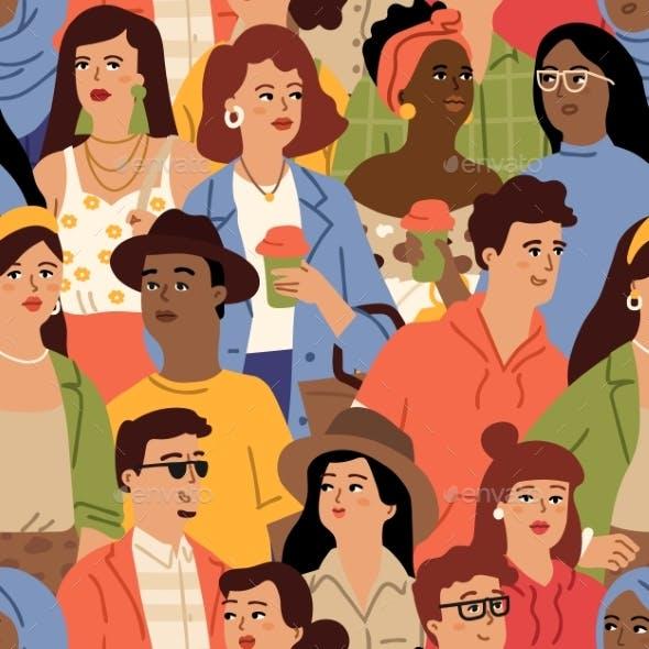 Diverse People Crowd