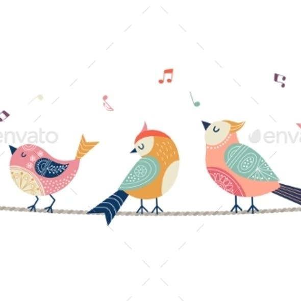 Singing Birds Banner