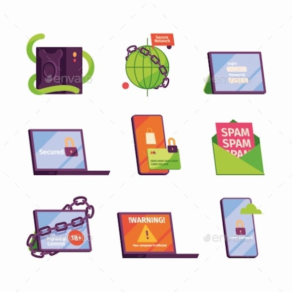 Cyber Secure Icons