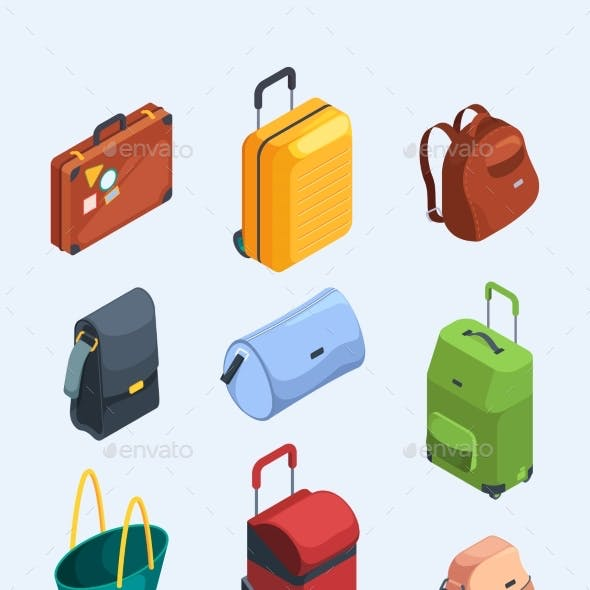 Isometric Luggage