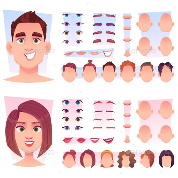 Male Face Constructor