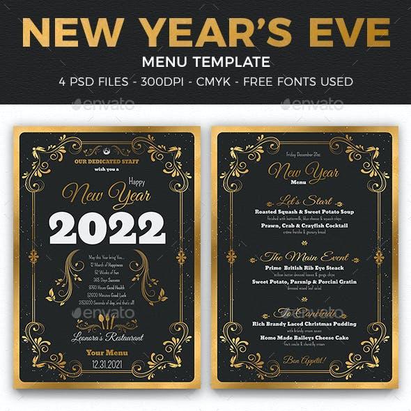 New Year Menu Template