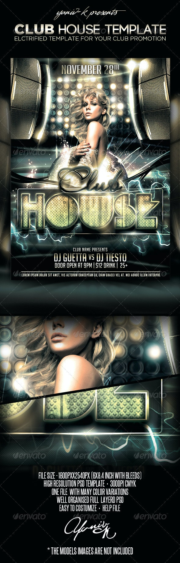 Club House Flyer Template - Clubs & Parties Events