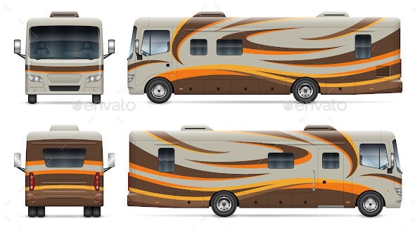 RV Camper Van - Man-made Objects Objects