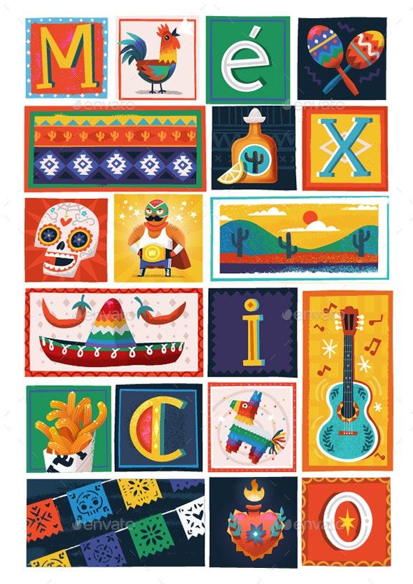 Mexico Poster Constructor - Travel Conceptual
