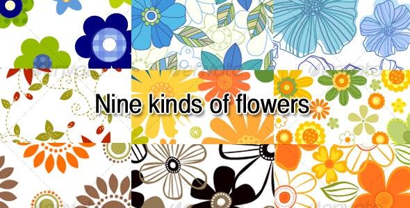 NineFlowers - Decorative Vectors