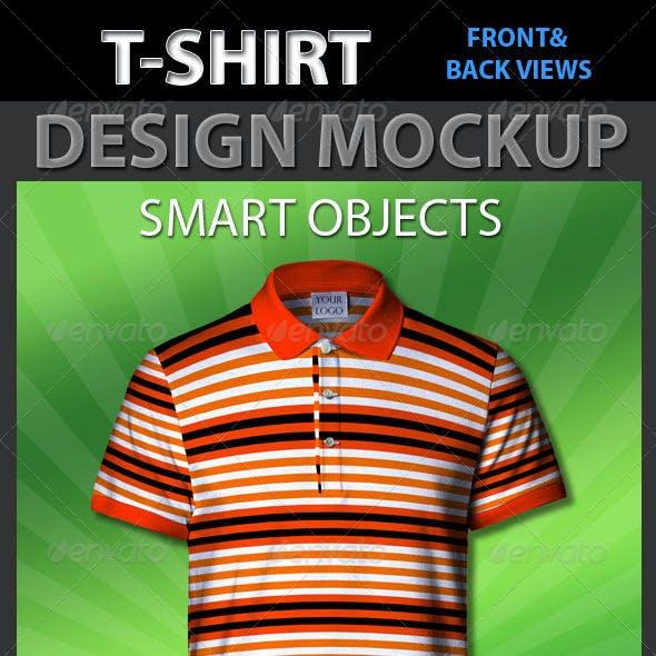 Tshirt Design Front & Back Mockup