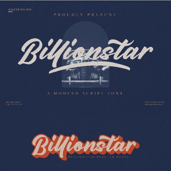 Billionstar Modern Script Font