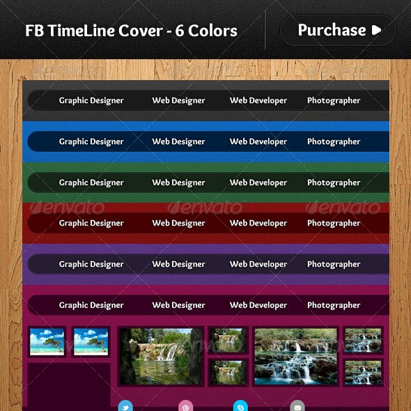 Facebook TimeLine Cover - 6 Colors