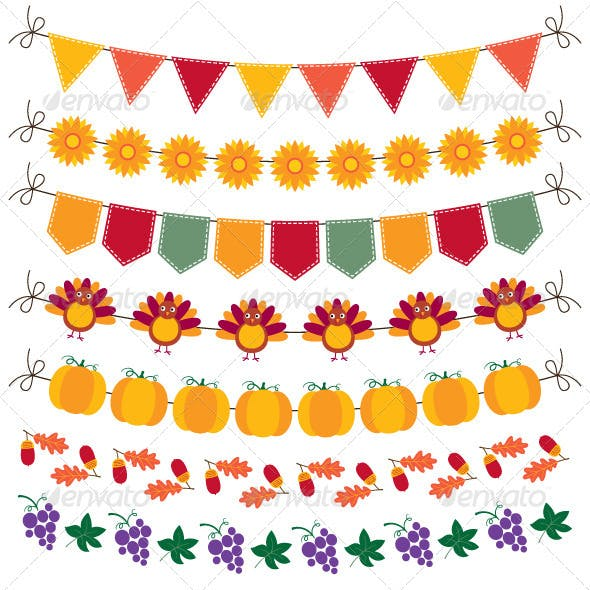 Thanksgiving bunting and decoration set