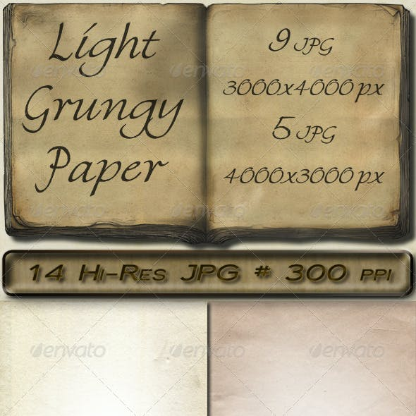 Light Grungy Paper Set