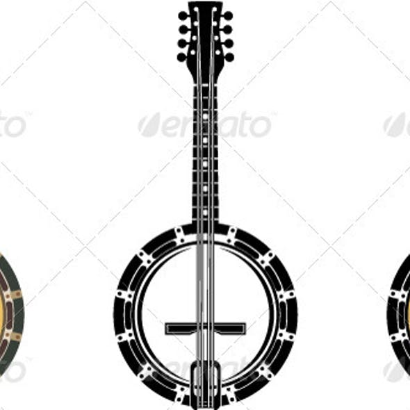 Set From A Musical Instrument  Banjo.