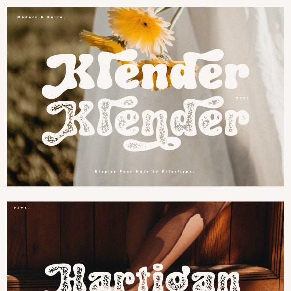 Klender - Modern & Retro Font