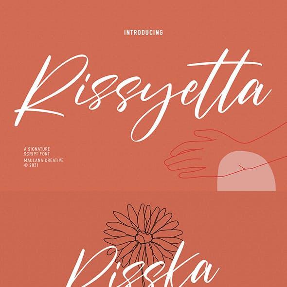 Rissyetta Signature Script Font