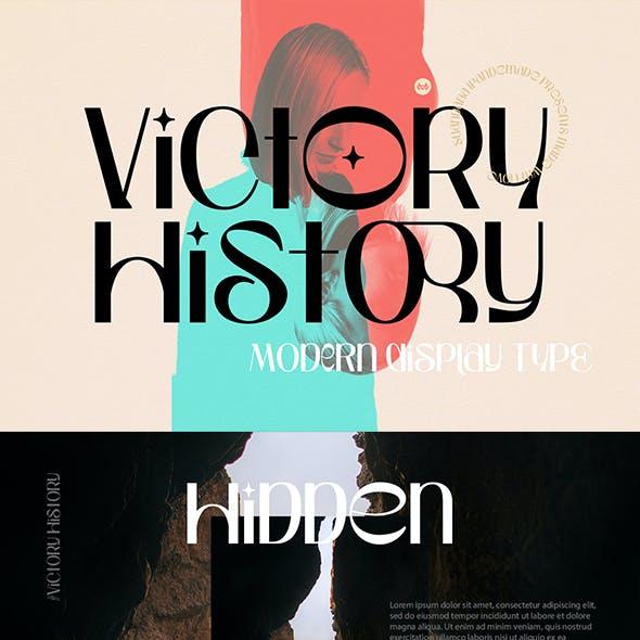 Victory History - Modern Sans