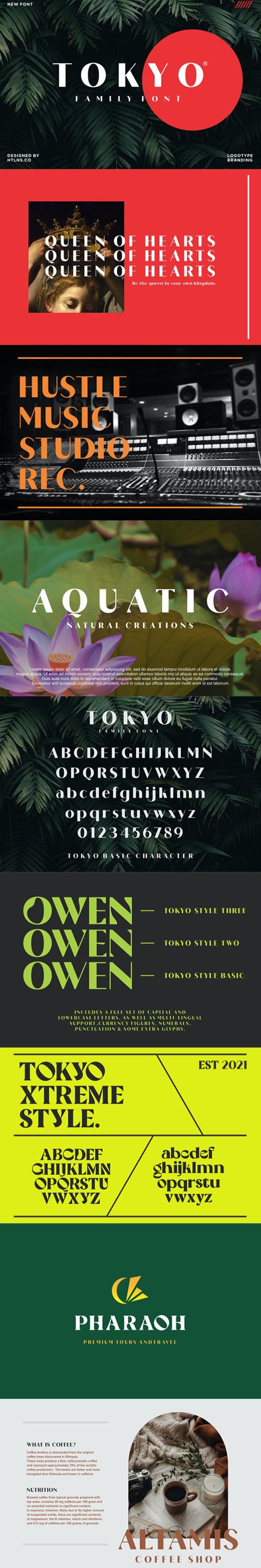 Tokyo family - Sans-Serif Fonts