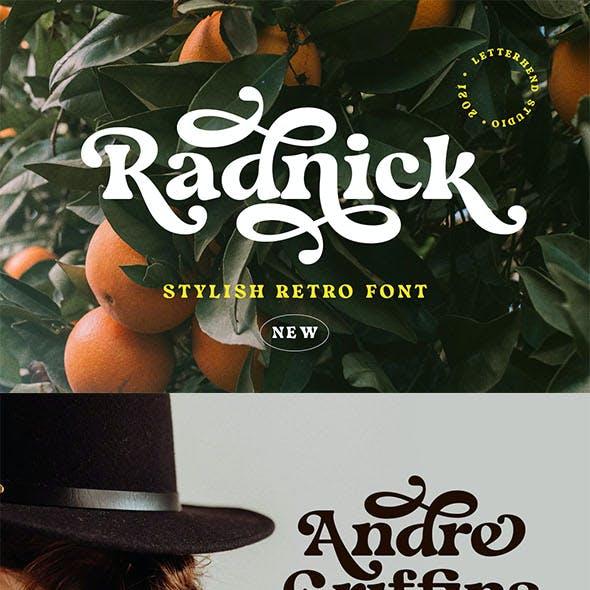 Radnick - Stylish Retro Font