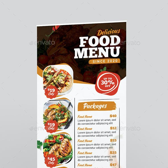 Food Menu Roll-Up Banner
