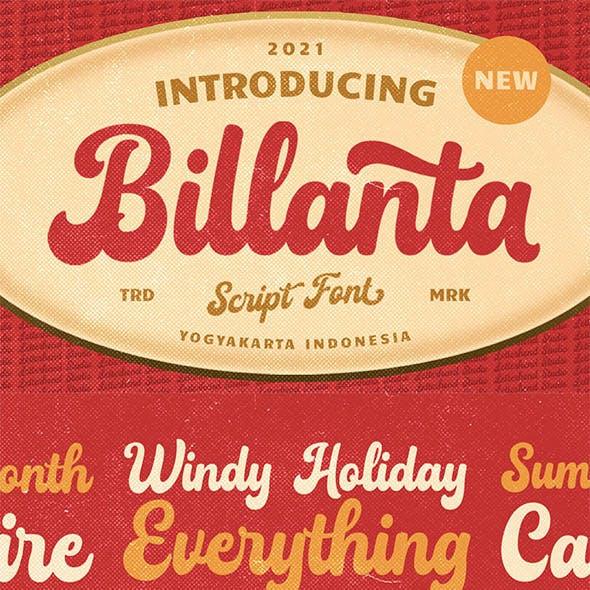 Billanta - Vintage Bold Script