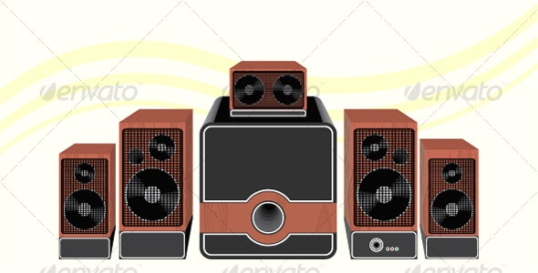 Surround Speakers - Objects Vectors