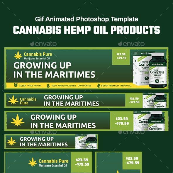 GIF Banners - Cannabis Hemp Oil Products