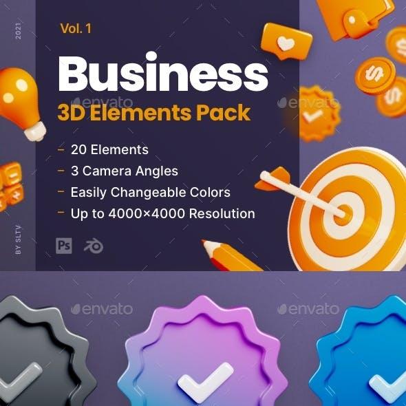 Business - 3D Elements Pack