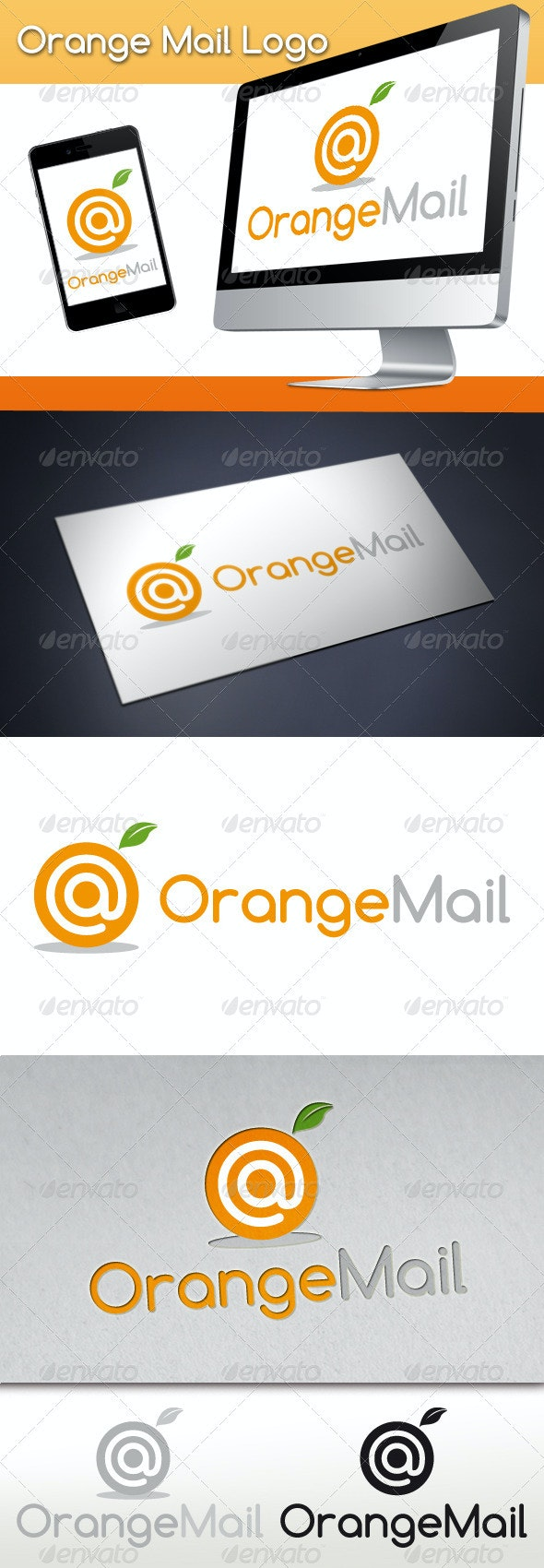 Orange Mail Logo - Nature Logo Templates