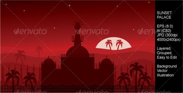 Sunset Palace - Backgrounds Decorative