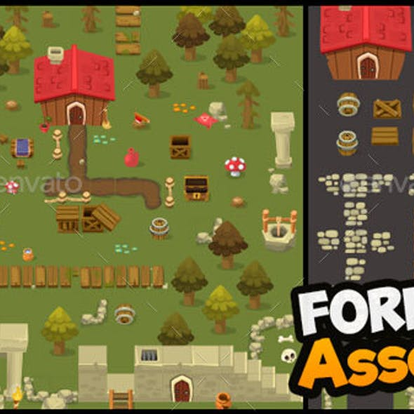 Forest Assets - Top Down