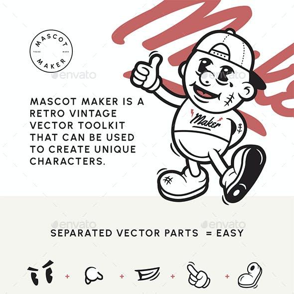 Mascot Maker: Vintage Retro & Cartoon Character Creator - Mega Bundle