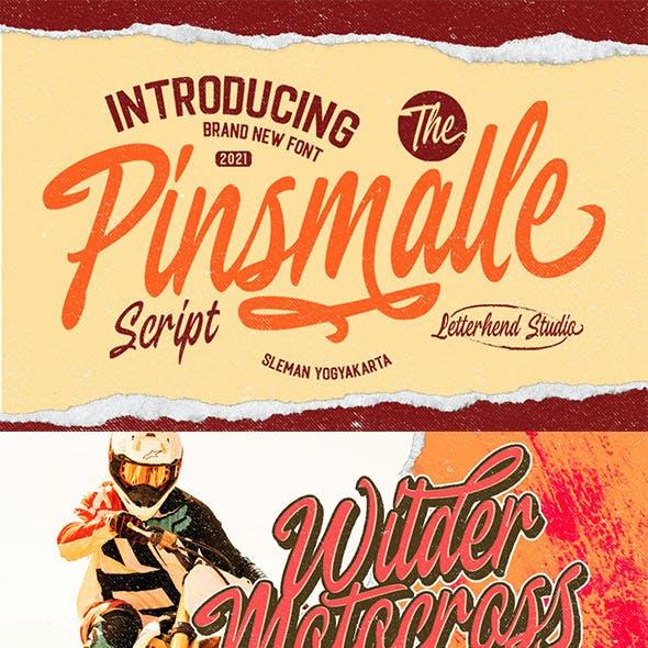 Pinsmalle - Vintage Script