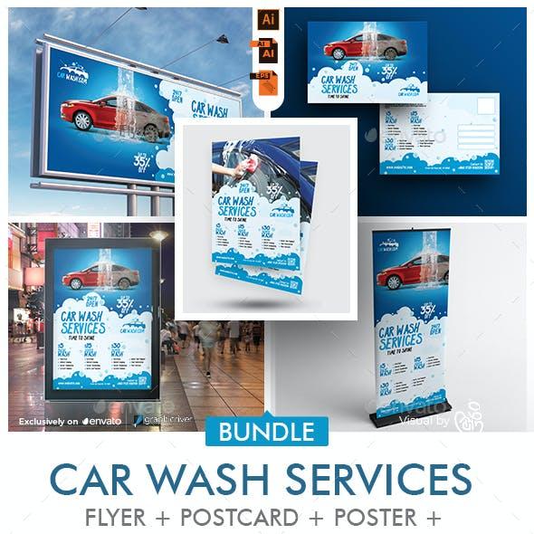 Car Wash Business Promotional Print Template Bundle