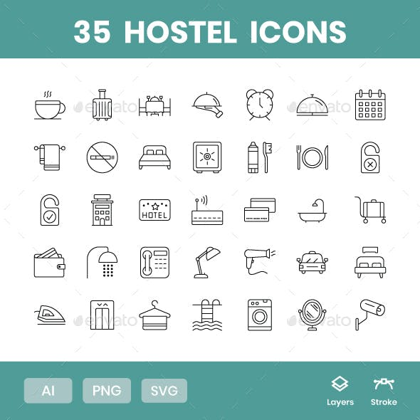Hostel - Icons Pack
